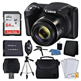 Cheap Canon PowerShot SX420 20 MP Digital Camera (Black) + 64GB SDHC Memory Card + Deluxe Carrying Case + Extra Battery + 50″ Quality Tripod + Hand Grip + Cleaning Kit + Complete Accessories