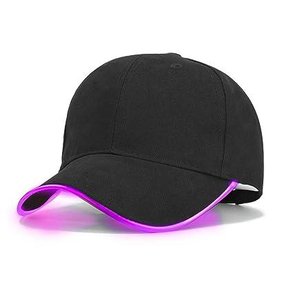 Brillante LED Gorras de béisbol para Mujer Hombre Oscuro Lectura Pesca Gorras Luminosas Moda Gorra de