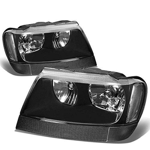 Jeep Grand Cherokee Headlight Lamps Kit (Black Housing) - WJ