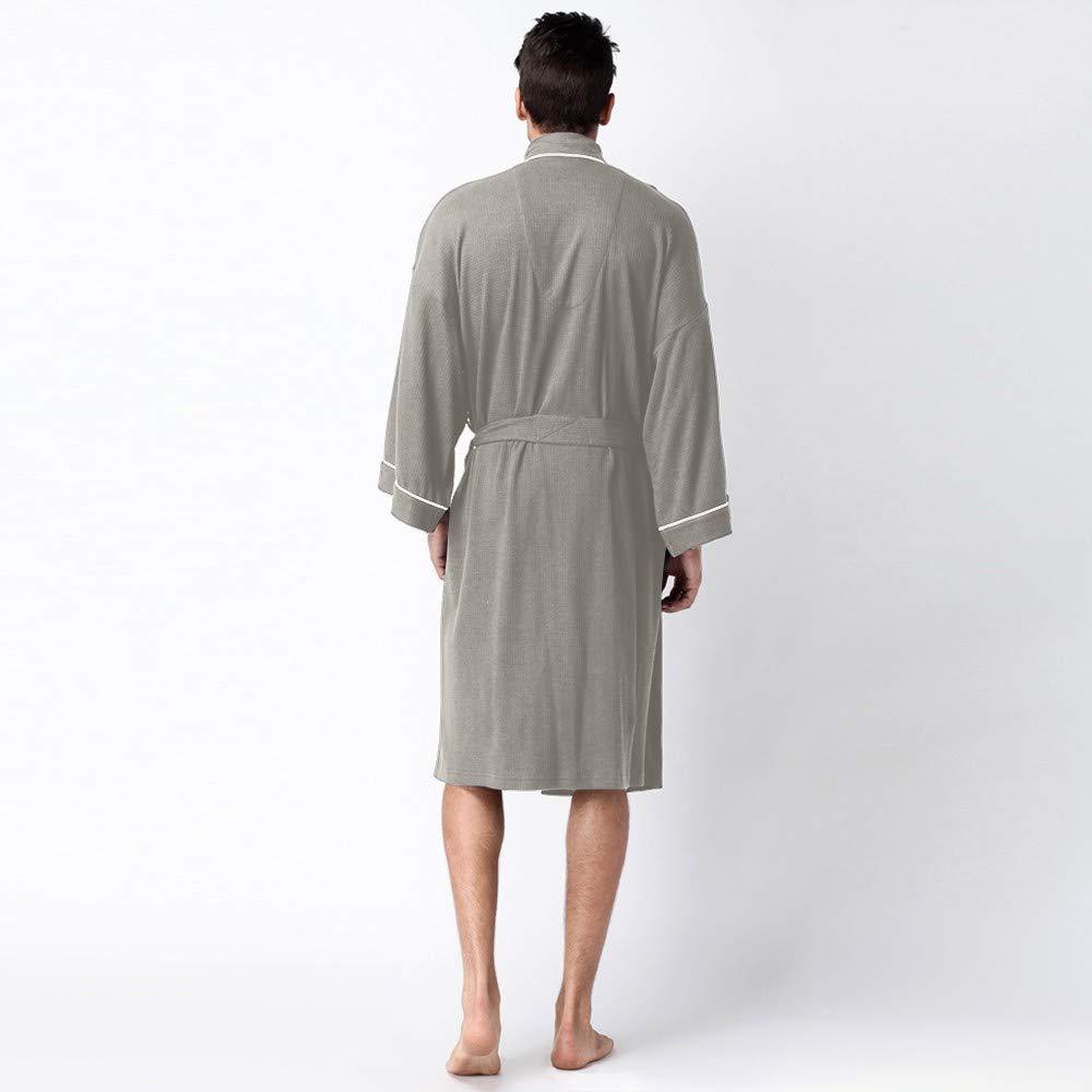 Mens Fleece Robe Turkish Cotton Terry Shawl Bathrobe Koolsants Men/'s Robe