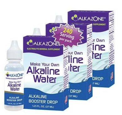 Alkazone Alkaline Water Drops Make Your Own Alkaline Water/Alkaline Booster Drop (3 Pack) by Alkazone (Image #2)