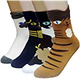 JJMax Women's Sweet Animal Cotton Blend Socks Set One Size Fits All