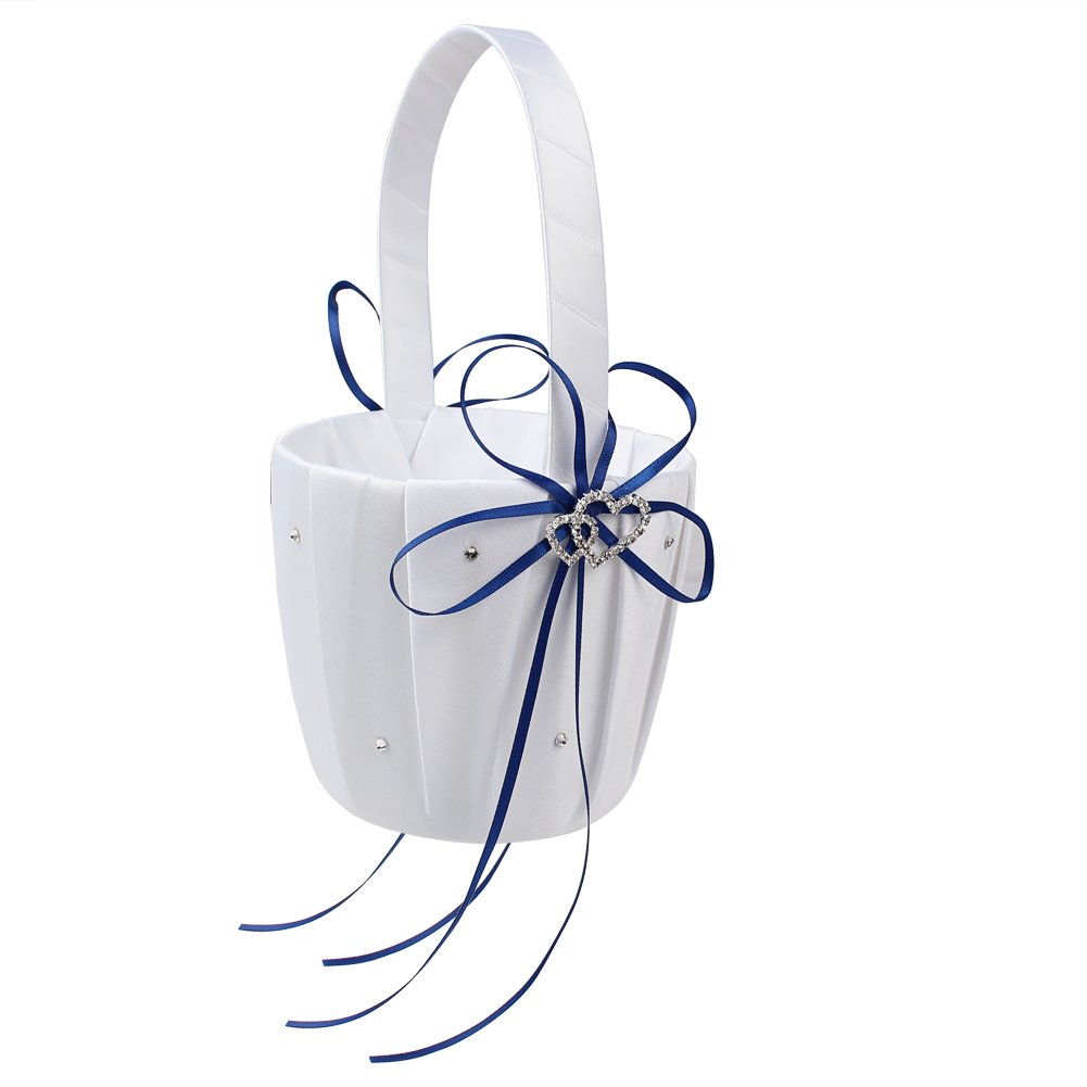 Amazon Ourwarm Flower Girl Basket And Ring Pillow Set Double