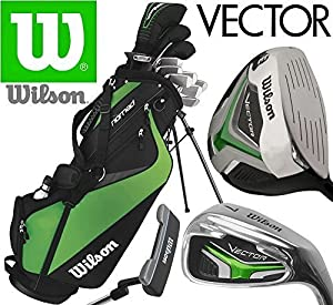 Wilson Vector HL Full Golf Club Set Deluxe Stand Bag Mens Steel Golf Clubs: Amazon.co.uk: Sports ...