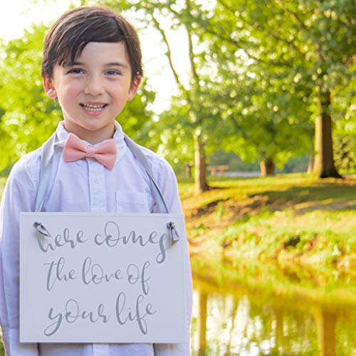 Here Comes The Love of Your Life Wedding Sign for Ring Bearer Flower Girl