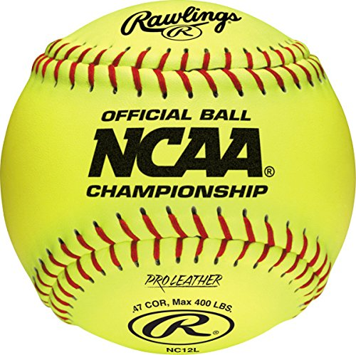 Rawlings Raised Seam Collegiate Softball Official NCAA League Championship Fastpitch Softballs, NC12L