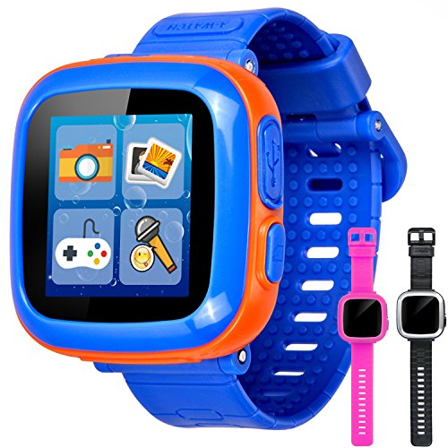 GBD Game Smart Watch for Kids Children Boys Girls with Camera 1.5'' Touch 10 Games Sports Pedometer Timer Alarm Clock Summer Learning Toys Gifts Wrist Watch Health Monitor