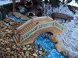 Bonsai Miniature Mini Glazed Ceramic Bridge