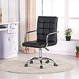 Fauteuil de bureau design - Siège chaise de bureau noir - Vittorio