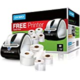 DYMO Label Writer 450 Free Printer Bundle with 4 Label Rolls, Black/Silver (1957331)