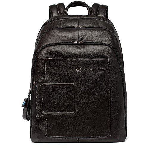 Piquadro Computer Backpack with iPad and Notebook Double Compartment, Black, One Size by Piquadro