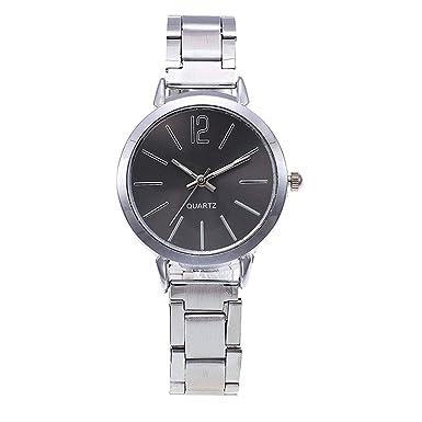 Darringls_Reloj,Relojes Mujer Moda Reloj de Pulsera Redondo de Cuarzo Inoxidable Relojes Mujer analógico de Moda para Mujer de Acero: Amazon.es: Ropa y ...