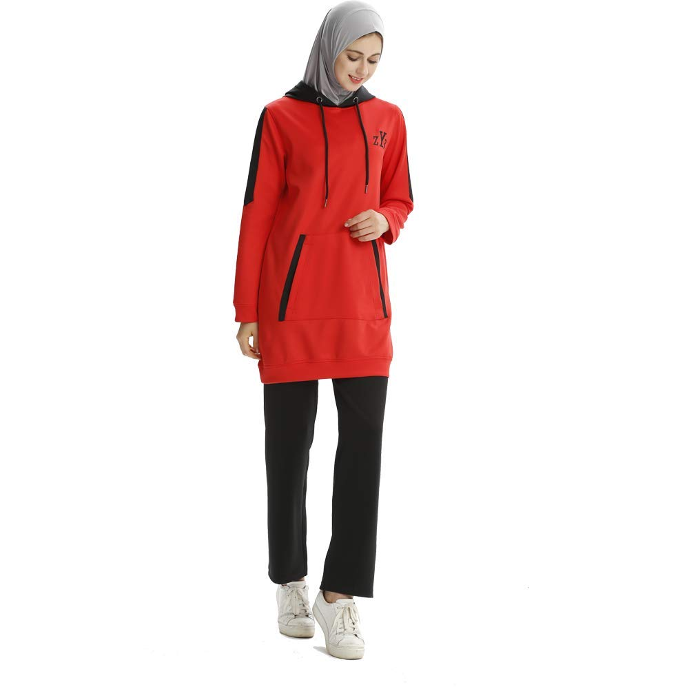 Muslim Tracksuit Set (2XL, Red) by Mr Lin123