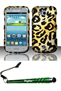 FoxyCase(TM) FREE stylus AND For Samsung Galaxy Axiom R830 Admire 2 (Cricket US Cellular) Rubberized Design Case Cover Protector - Cheetah Desire Safe Phone cas couverture