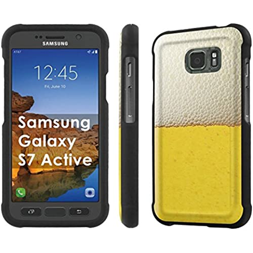 AT&T [Galaxy S7 Active] [5.1 Screen] Armor Case [NakedShield] [Black] Total Armor Protection [Shell Snap] + [Screen Protector] Phone Case - [Beer] for Samsung Sales