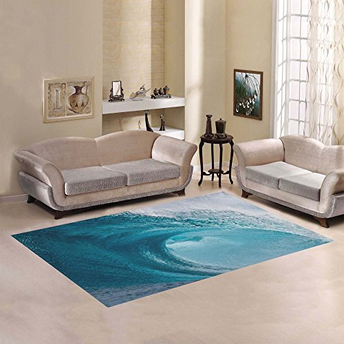 JC-Dress Area Rug Cover Wave Surf Ocean Modern Carpet Cover 7'x5'