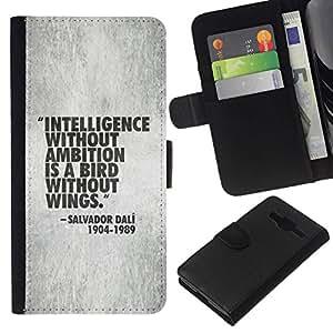 All Phone Most Case / Oferta Especial Cáscara Funda de cuero Monedero Cubierta de proteccion Caso / Wallet Case for Samsung Galaxy Core Prime // presupuesto de inteligencia de trabajo de motivación