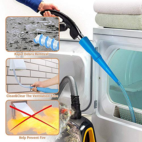 Haphome Dryer Vent Cleaner Kit, Dryer Snake lint Remover Quickly Removes Lint,Dryer lint Removal Kit Over 3.5-Feet Long£¬Attachment for Dryer lint Cleaner (1 Pack) ¡­
