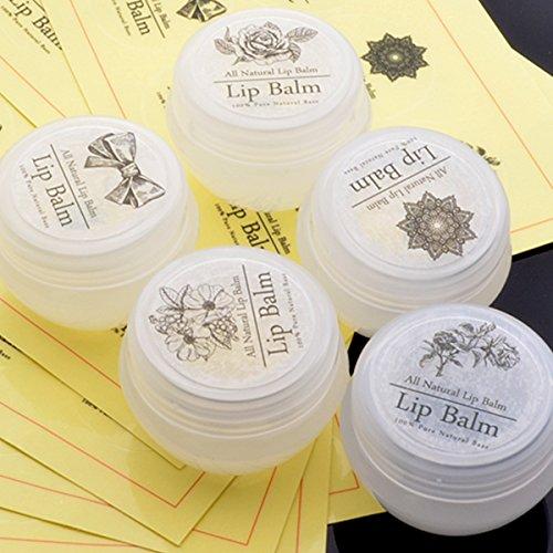 - CHAWOORIM Lip Balm Stickers Lip Balm Labels Lip Balm Circle Clear Chapstick Vinyl Sticker