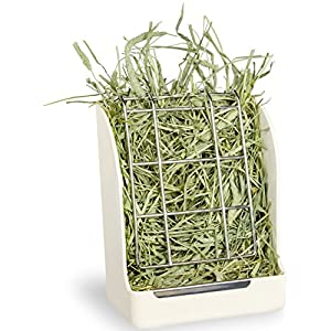 Mkono Hay Feeder Less Wasted Hay Rack Manger for Rabbit Guinea Pig Chinchilla 15