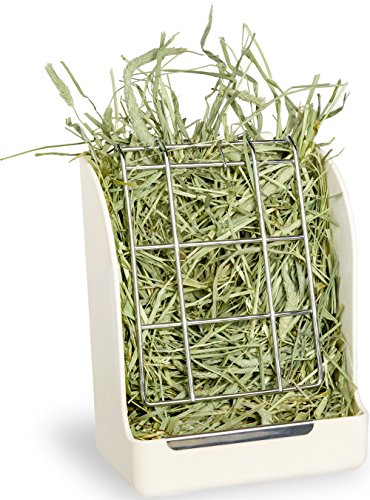 Mkono Hay Feeder Less Wasted Hay Rack Manger for Rabbit Guinea Pig Chinchilla