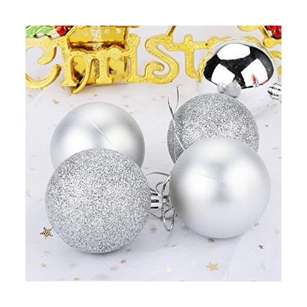 Aitsite 24PCS Palle di Natale Palle per Albero di Natale Bauble 6 CM Porta Applique Ornamenti Decorazioni Albero Palle Decorative Festa per Matrimoni Forniture 5 spesavip