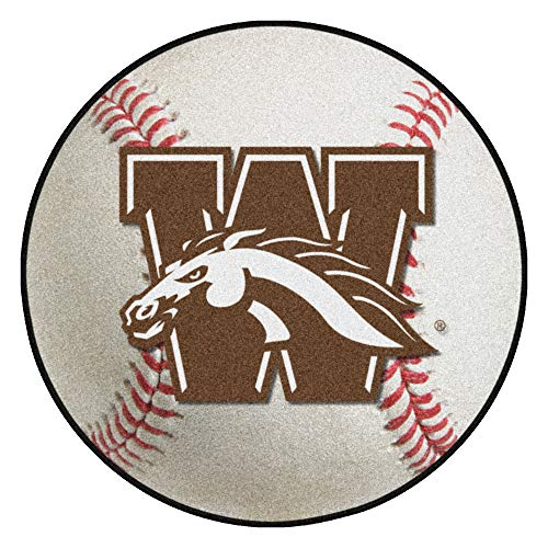 Baseball 663 - FANMATS NCAA Western Michigan University Broncos Nylon Face Baseball Rug