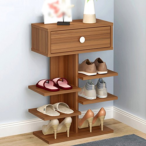 Shoes rack Mini Shoes Cabinet Door Shoes Shelf Living Room Storage Rack Multilayer Easy Economic Household Dustproof Shoebox (Color : Style2) (Rack Luggage Mini)