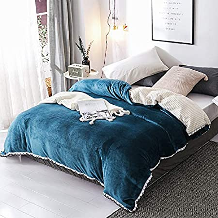 ,Cocoa Brown MEILIANJIA Flannel Baby Velvet Duvet Cover Thickening and Warmth Retention Simplicity Hypoallergenic Soft Breathable-Duvet Cover /& Blankets Dual Purpose-59 x 79 150 x 200cm