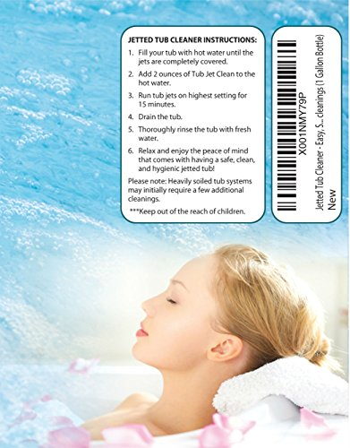 Jetted Tub Cleaner - Easy, Safe, Concentrated Self Cleaning Bath Tub Jet and Plumbing System Cleaner for Your Hot Tub, Whirlpool, Spa, or Jacuzzi - Premium Formula - 64 cleanings (1 Gallon Bottle) by Jet Tub Clean (Image #3)