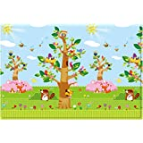 Baby Care Double sided soft Playmat / Kids Toddler Children Play Mat / Crawling Mat/ Protecting Play Mats - Birds in the Trees - Large