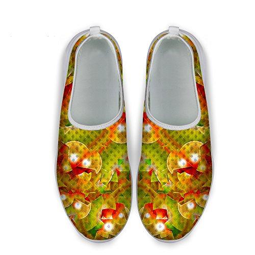 Gold Shoes Slip DESIGNS B1 for U Mesh Plaid Glitter Comfortable Print Stylish Running Walking FOR On Women 07Zw5qw