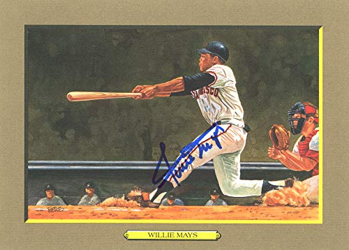 (Willie Mays Autographed Perez-Steele Great Moments Postcard #65 San Francisco Giants Beckett BAS #E46779)
