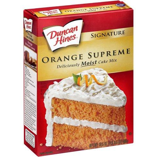 Duncan Hines Signature Supreme Cake Mix, Orange, 16.5 oz - Orange Cake Mix