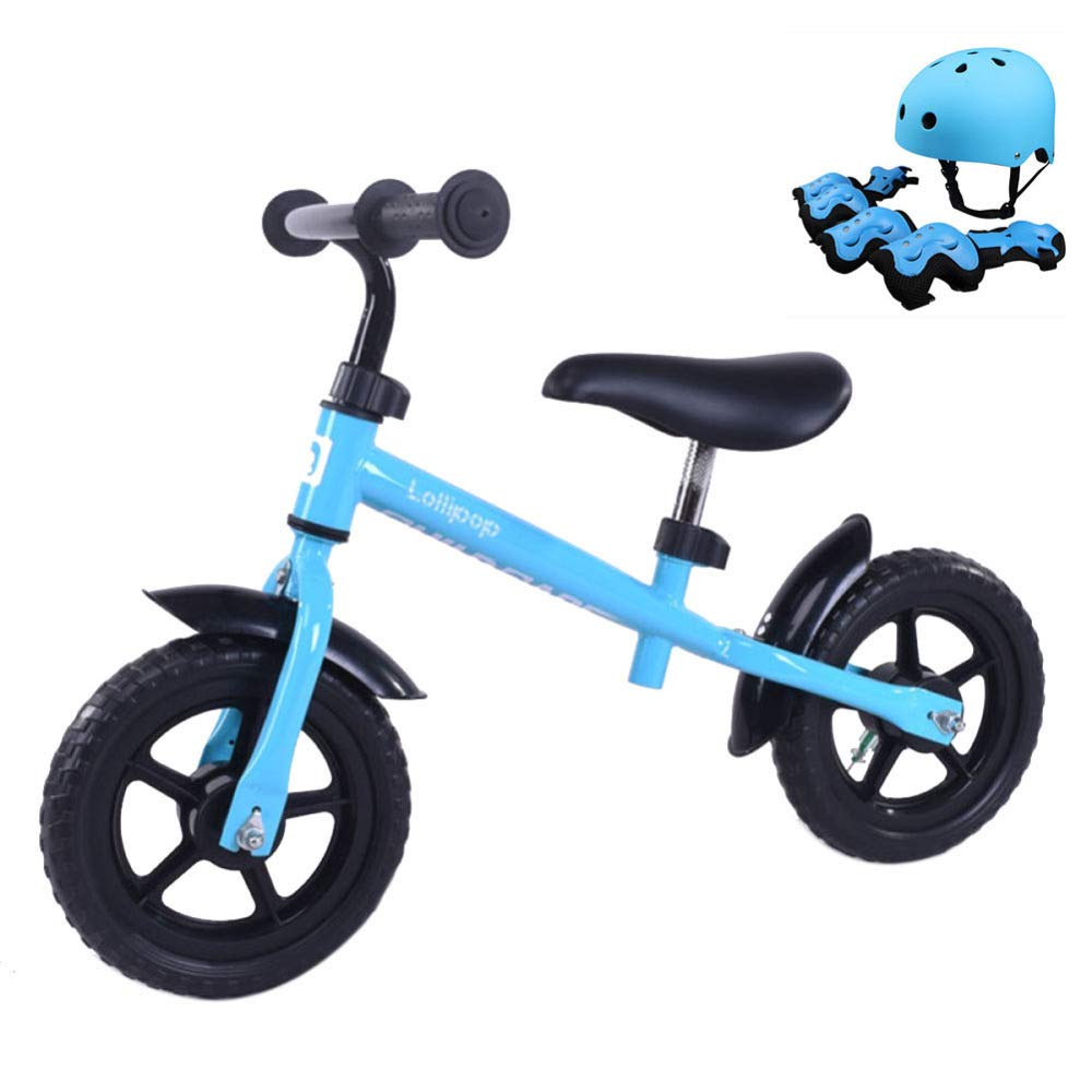 TH Bicicleta para Niños Balance Bicicleta para Correr Primera Bicicleta Bicicleta De Entrenamiento 10 '' 2-5 Años 85-115cm,Blue-10''