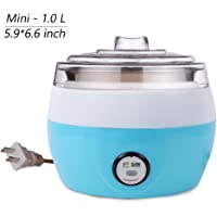 Dream's Story Household Automatic 1.0 Liter Stainless Yogurt Maker Machine Electric Automatic Fruit Yogurt Maker (Blue)