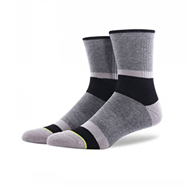 PinkBTFY Mens Printed Socks Cycling Compression Stockings Gym Socks For Running Stripe Sport Socks MK5021H5 L