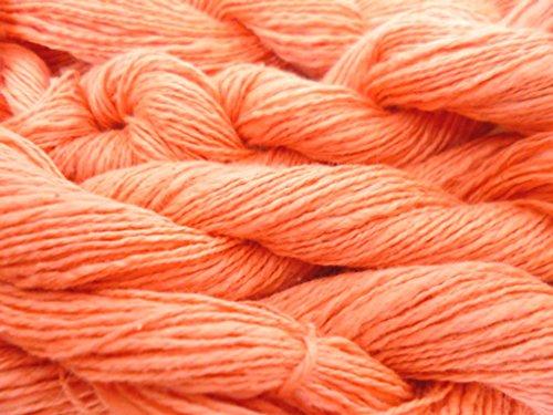 Coral Pink 100% Cotton Slub Fingering Knitting Crochet Yarn