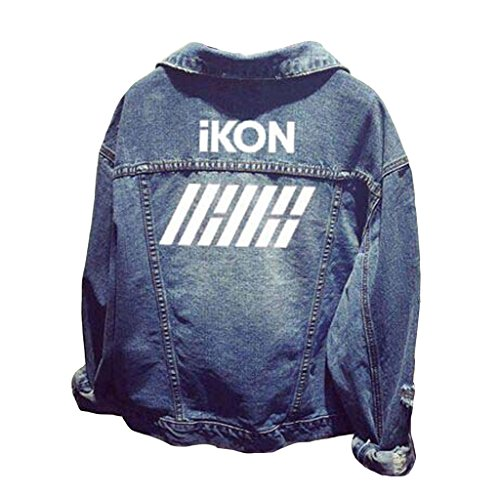 IKON Official Same Style Long Sleeve Denim Outerwear Coat Jacket