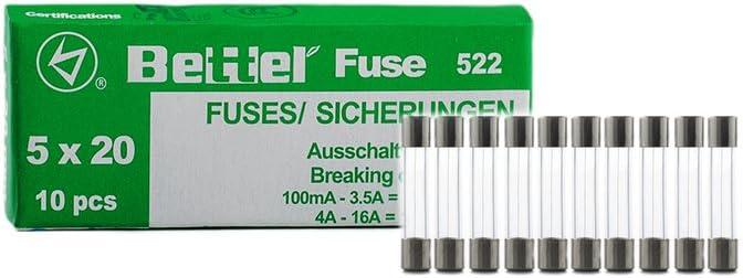 10 Sicherung 315 mA 250V Träge 5X20 mm Glassicherung Feinsicherung Fuse