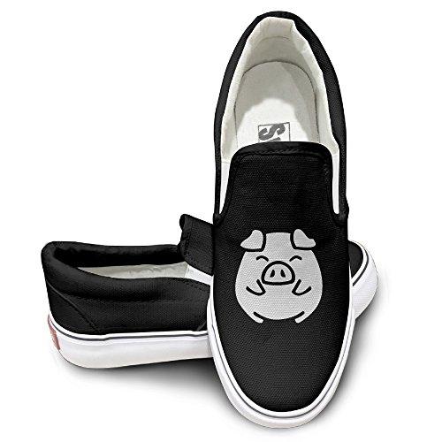 [ALIPAPA Custom Men's & Women's Cool Cute Pig Pump Black Size 36] (Wall E Costume Disney)