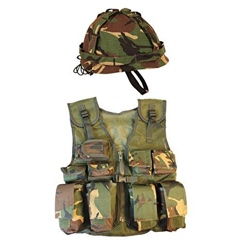 Kombat UK DPM Assault Gilet + Casque pour Enfant Motif Camouflage Taille Unique 1