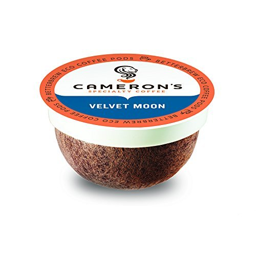 Cameron's Coffee Single Serve Pods, Velvet Moon Espresso Roast, 12 Count (Pack of 6)