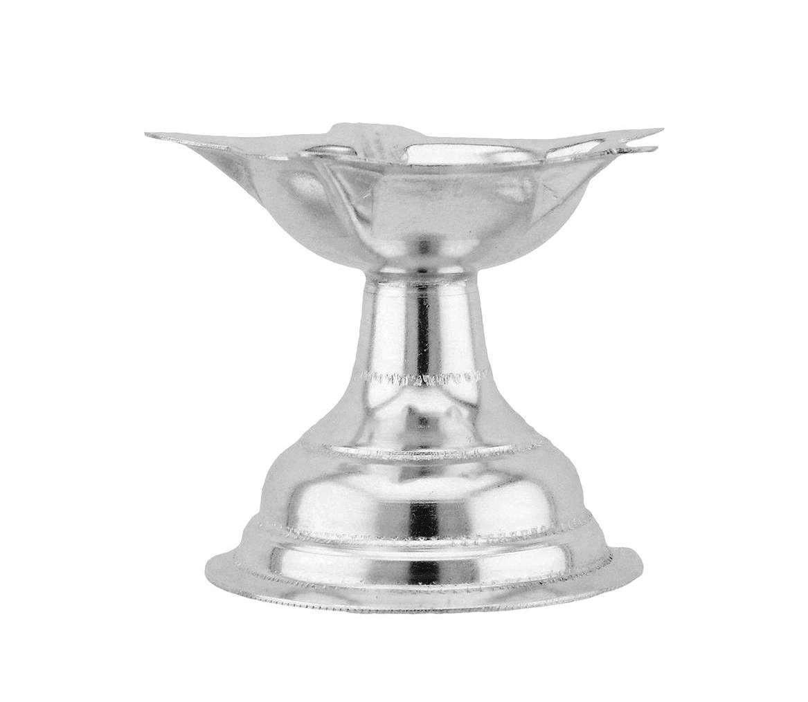 Love gold 925 Pure Silver Plated Diva Deep Nirangan Lamp Diya For Pooja Spiritual And Religious Diwali Special