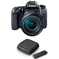Canon EOS 77D DSLR with EF-S 18-135mm F3.5-5.6 IS USM Lens - With Canon Connect Station CS100