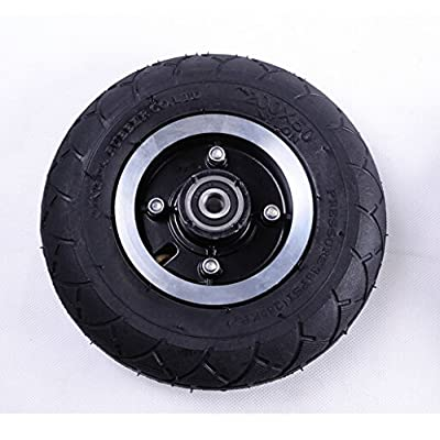 "L-faster 200MM Electric Scooter Tyre With Wheel Hub 8"" Scooter Tyre Inflation Electric Vehicle Aluminium Alloy Wheel Pneumatic Tire (wheel): Toys & Games"