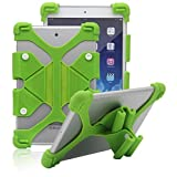 "Tsmine ASUS Zenpad Z380M 8"" ShockProof Case - Universal Soft Silicone Elastic Case Stand Handle Cover,Green"
