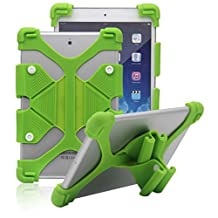 Tsmine Samsung Galaxy Tab4 Advanced 7.0 (SM-T230NW) Tablet Silicone Shockproof case -Universal Elastic Stand Soft Skin Cover,Green