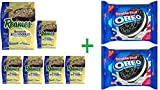 Reames Home Style Egg Noodle, 16 oz (Pack Of 6) + 2 Nabisco Oreo Double Stuf Chocolate Sandwich Cookies 15.35 oz