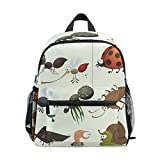 Cute Boy Girl Schoolbag Kid Backpack Insects Shoulders Bag for School Student